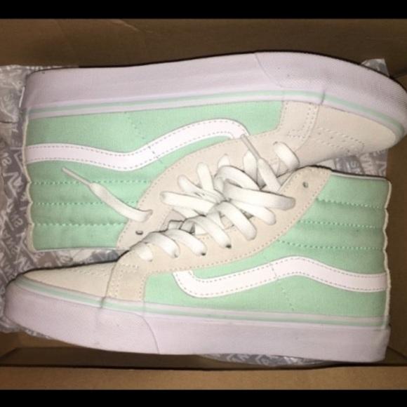 Vans Shoes | Grey Mint Green Vans